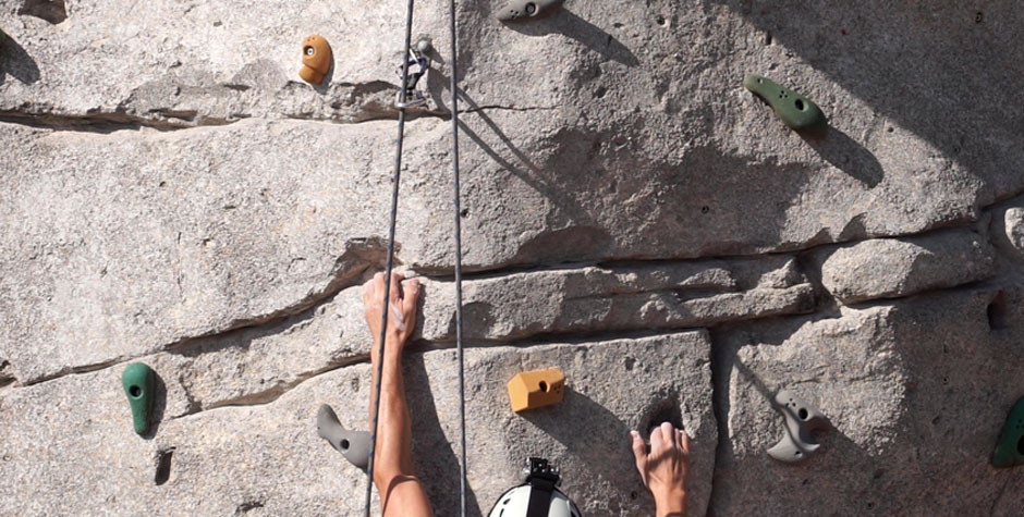 CLIMBING WALL, DETAIL OF GRIP